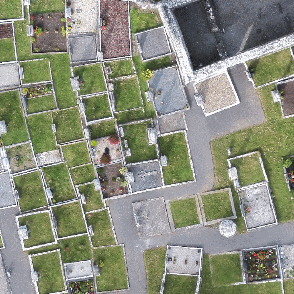 Orthophotography generated from drone data