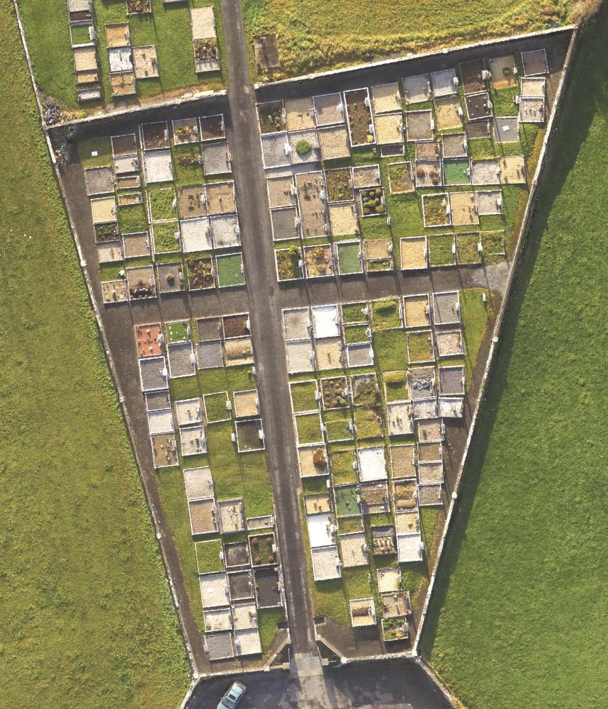 Orthophotography of Kilbeacanty New Graveyard