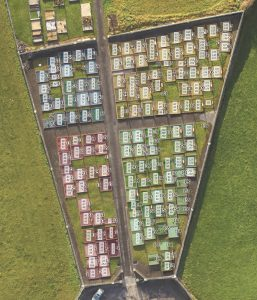 Features from Kilbeacanty New Graveyard mapped in GIS