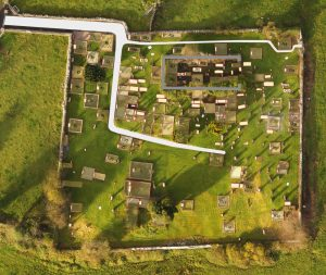 Features from Kilbeacanty Old Graveyard mapped in GIS